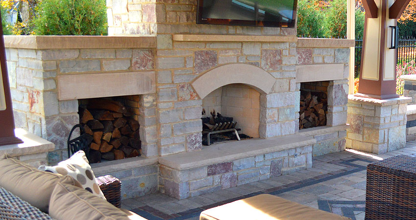 Fireplace and pavilion in Lemont, IL